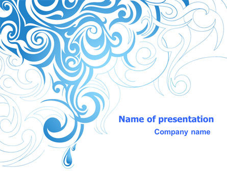 Blue Curls PowerPoint Template