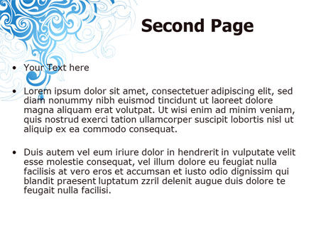 Blue Curls PowerPoint Template Slide 2