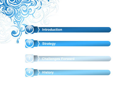 Blue Curls PowerPoint Template Slide 3