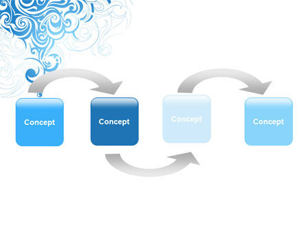 Blue Curls PowerPoint Template Slide 4