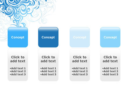 Blue Curls PowerPoint Template Slide 5