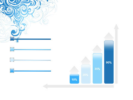 Blue Curls PowerPoint Template Slide 8