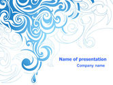 Abstract/Textures: Blue Curls PowerPoint Template #07023
