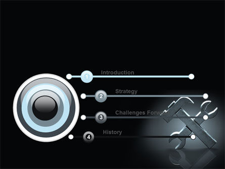 Stylized Tools In Gray Color PowerPoint Template, Slide 3, 07024, Utilities/Industrial — PoweredTemplate.com