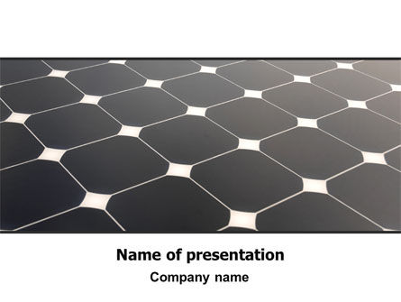 Solar Panel PowerPoint Template, 07026, Abstract/Textures — PoweredTemplate.com