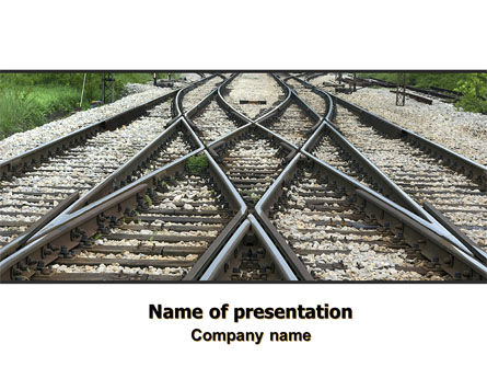Railways PowerPoint Template, 07027, Cars and Transportation — PoweredTemplate.com
