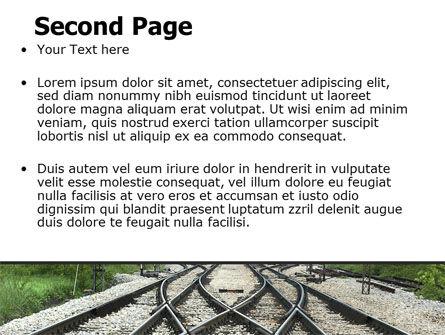 Railways PowerPoint Template Slide 2