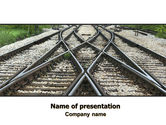 Cars and Transportation: Railways PowerPoint Template #07027