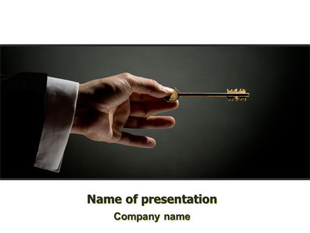 Consulting: Choosing Key PowerPoint Template #07028