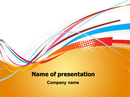 Abstract/Textures: Colorful Ribbons PowerPoint Template #07031