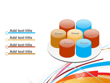 Colorful Ribbons PowerPoint Template Slide 12