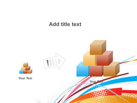 Colorful Ribbons PowerPoint Template Slide 13