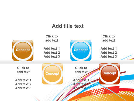 Colorful Ribbons PowerPoint Template Slide 18