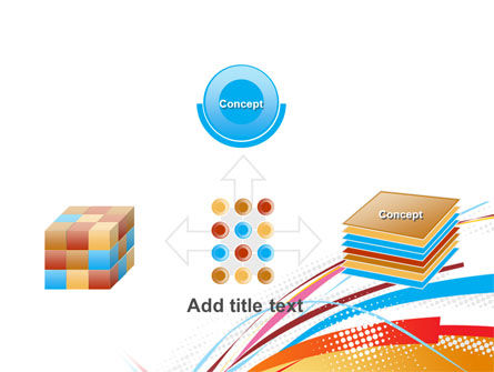 Colorful Ribbons PowerPoint Template Slide 19