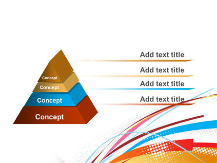 Colorful Ribbons PowerPoint Template Slide 4