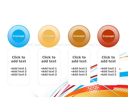 Colorful Ribbons PowerPoint Template Slide 5