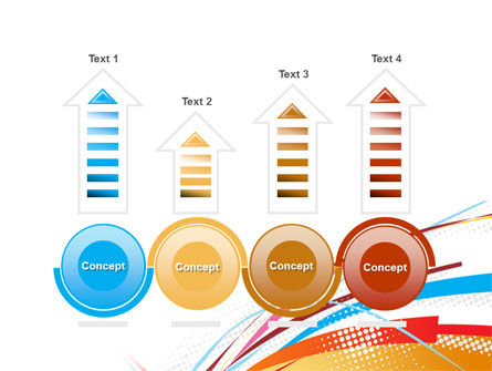 Colorful Ribbons PowerPoint Template Slide 7