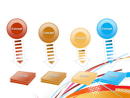 Colorful Ribbons PowerPoint Template Slide 8