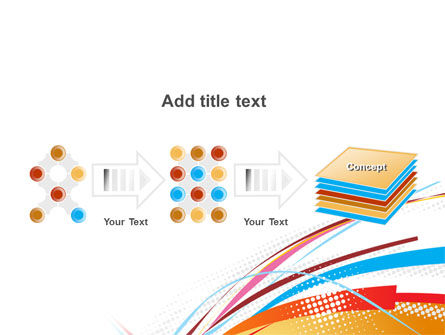 Colorful Ribbons PowerPoint Template Slide 9