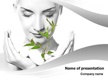 Bio Cosmetics PowerPoint Template, 07032, Health and Recreation — PoweredTemplate.com