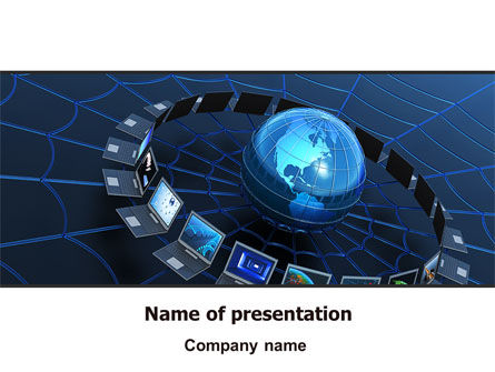 Telecommunication Progress PowerPoint Template, 07033, Technology and Science — PoweredTemplate.com