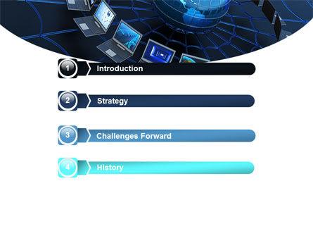 Telecommunication Progress PowerPoint Template, Slide 3, 07033, Technology and Science — PoweredTemplate.com