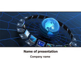 Technology and Science: Telecommunication Progress PowerPoint Template #07033