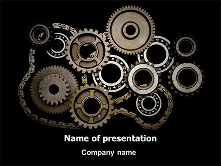 Utilities/Industrial: Mechanical Wheels PowerPoint Template #07034