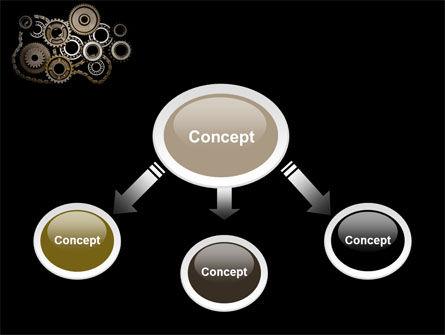 Mechanical Wheels PowerPoint Template, Slide 4, 07034, Utilities/Industrial — PoweredTemplate.com