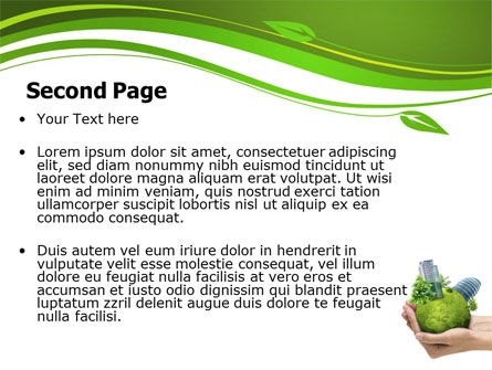 Green Habitat PowerPoint Template, Slide 2, 07037, Nature & Environment — PoweredTemplate.com