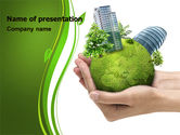 Nature & Environment: Green Habitat PowerPoint Template #07037