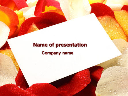 Note in Petals PowerPoint Template, 07039, Holiday/Special Occasion — PoweredTemplate.com