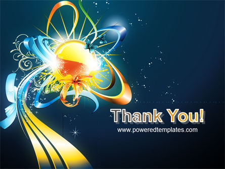 Abstract Flower Design PowerPoint Template Slide 20