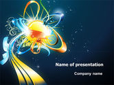 Abstract/Textures: Abstract Flower Design PowerPoint Template #07041