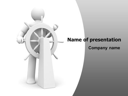 Steersman PowerPoint Template, 07044, Business Concepts — PoweredTemplate.com
