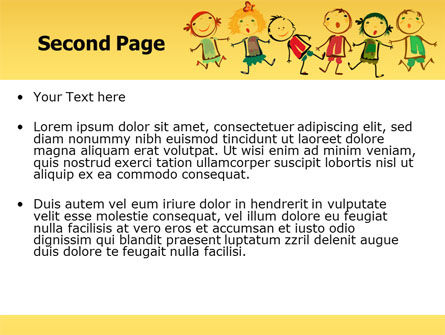 Funny Kids PowerPoint Template, Slide 2, 07045, Education & Training — PoweredTemplate.com
