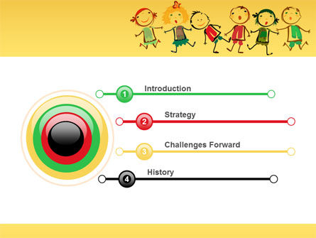 Funny Kids PowerPoint Template, Slide 3, 07045, Education & Training — PoweredTemplate.com