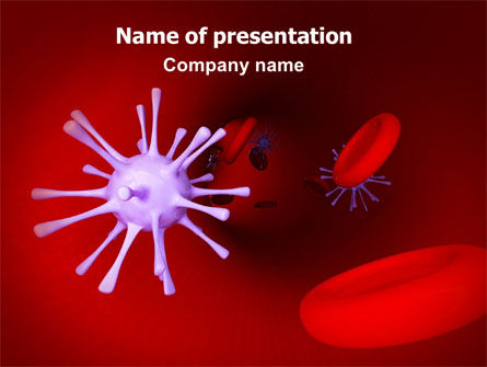 Medical: Virus in Blood PowerPoint Template #07046