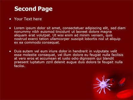 Virus in Blood PowerPoint Template, Slide 2, 07046, Medical — PoweredTemplate.com