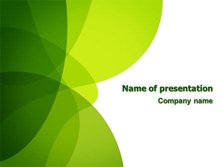 Green Theme PowerPoint Template, 07047, Abstract/Textures — PoweredTemplate.com