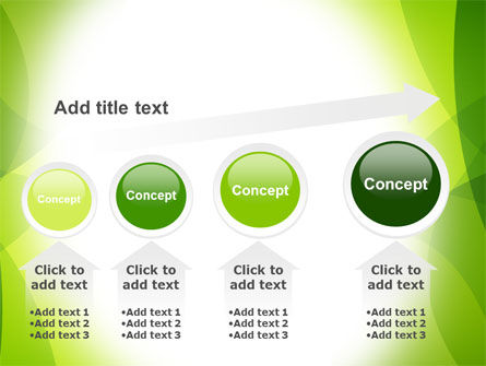 Green Theme PowerPoint Template Slide 13