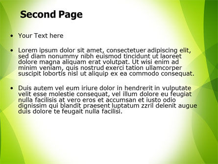 Green Theme PowerPoint Template Slide 2