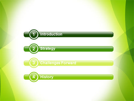 Green Theme PowerPoint Template, Slide 3, 07047, Abstract/Textures — PoweredTemplate.com