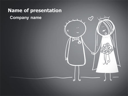 Holiday/Special Occasion: Married Couple PowerPoint Template #07048