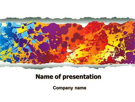 Splattered Paint PowerPoint Template