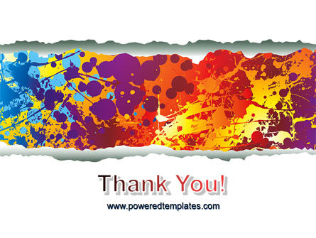 Splattered Paint PowerPoint Template Slide 20