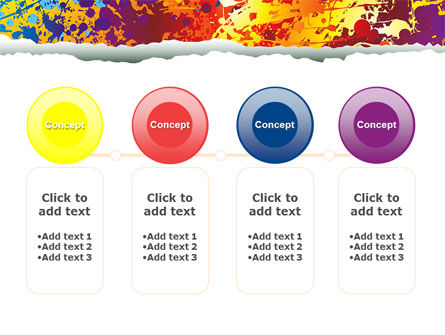 Splattered Paint PowerPoint Template Slide 5