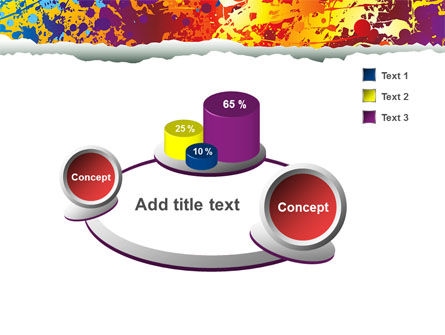 Splattered Paint PowerPoint Template Slide 6