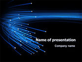 Technology and Science: Blue Optic Fibers PowerPoint Template #07052
