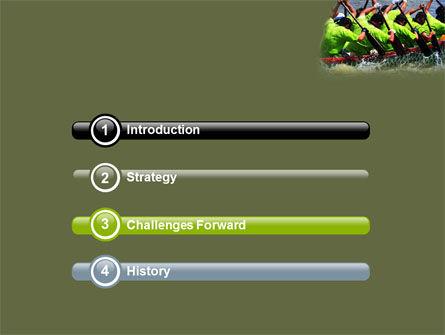 Boat Race PowerPoint Template, Slide 3, 07053, Sports — PoweredTemplate.com